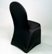 BLACK, lycra chair covers