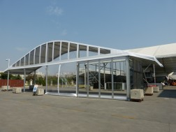 WHITE ACRUM STRUCTURE 20M SERIES WITH EAVES