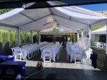 MARQUEE 20` BY 50` OR 6M BY 15M  BLUE & WHITE