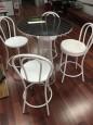 Bentwood white Bar stools