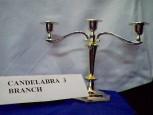 Candelabra 3 branch (silver)